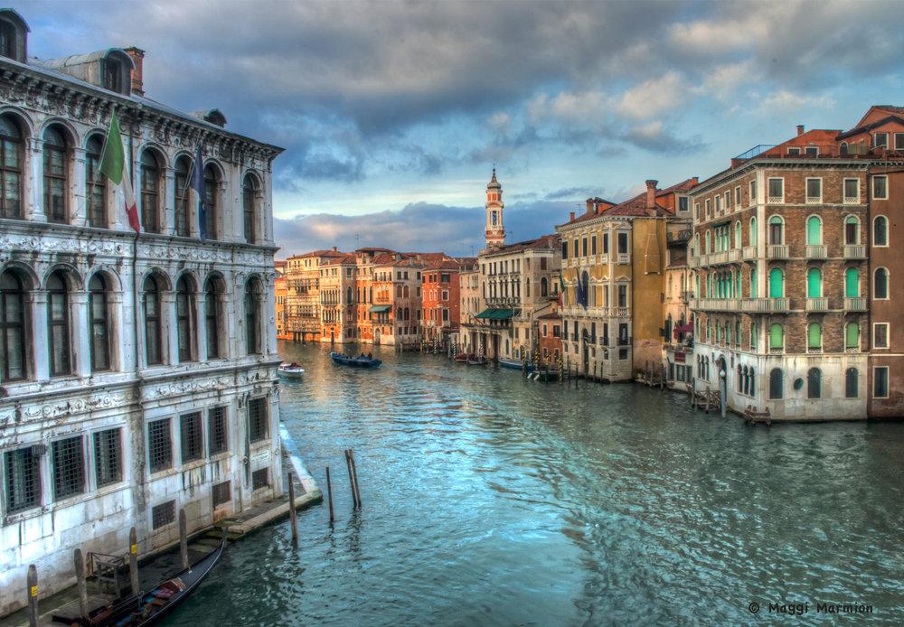 View from Rialto Bridge Venice