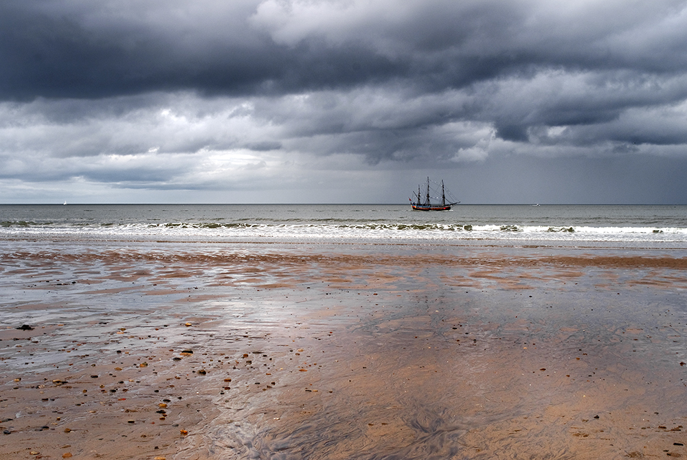 Tall Ship in Seascape