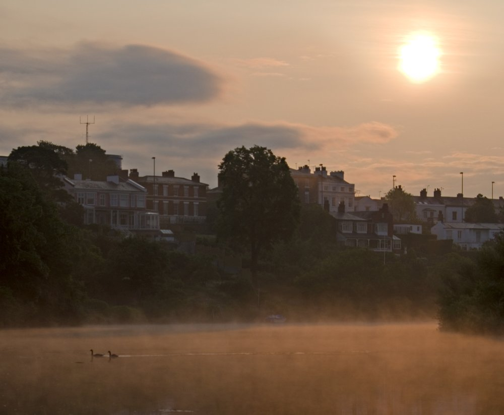 A misty June morning at the River Dee