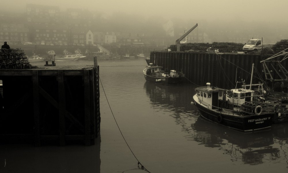 Foggy Whitby Harbour