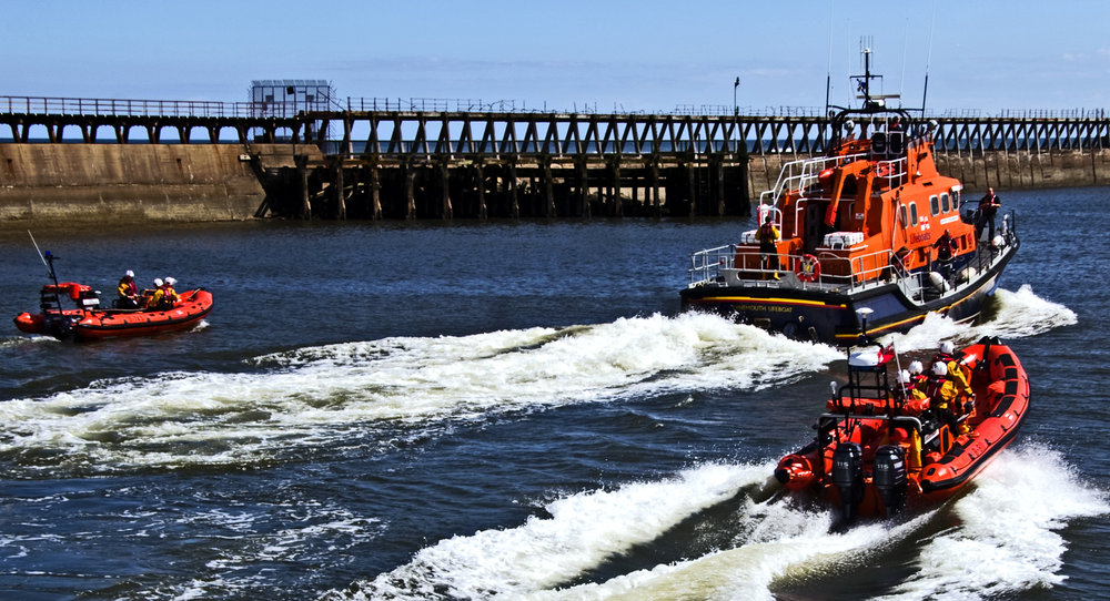 Lifeboat day in Blyth