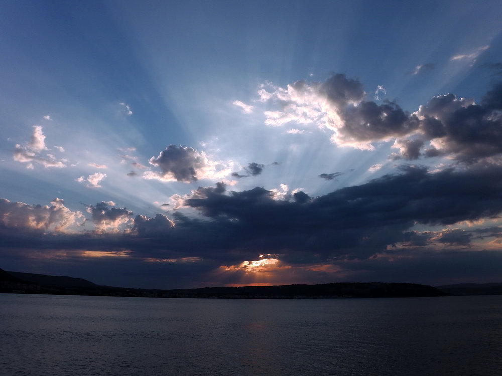 Sunset in the Dardanelles