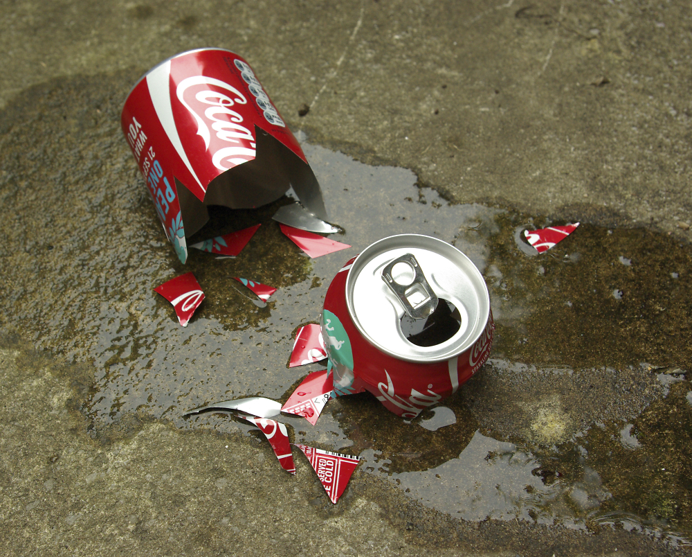 Shattered coke can??