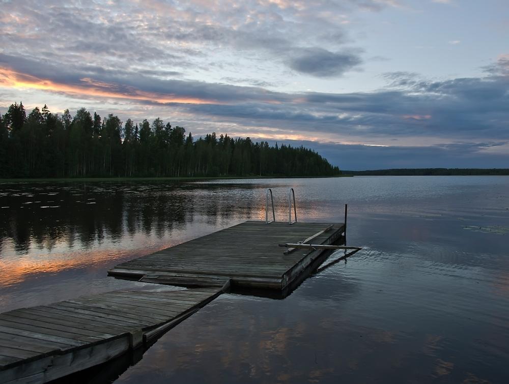 Sunset near Jyvaskyla