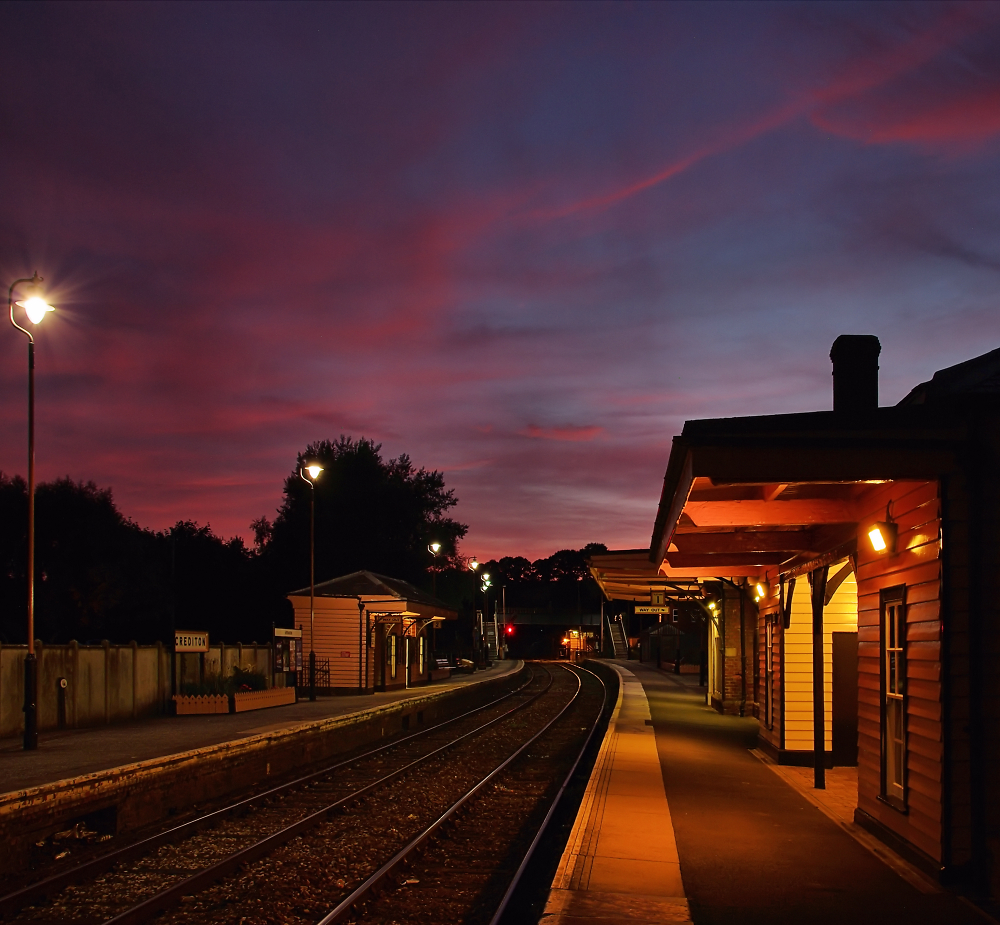 Crediton Station Sunset