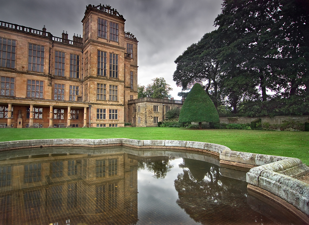 Reflection of Hardwick Hall in Colour