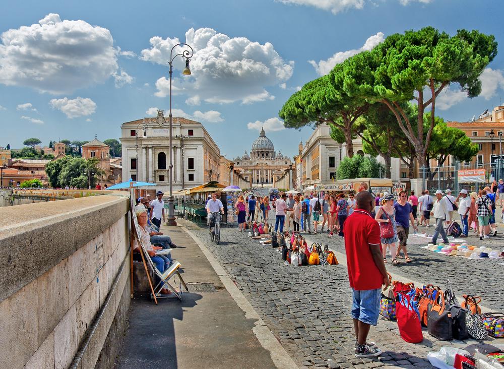 St. Peter's Pastel Landscape