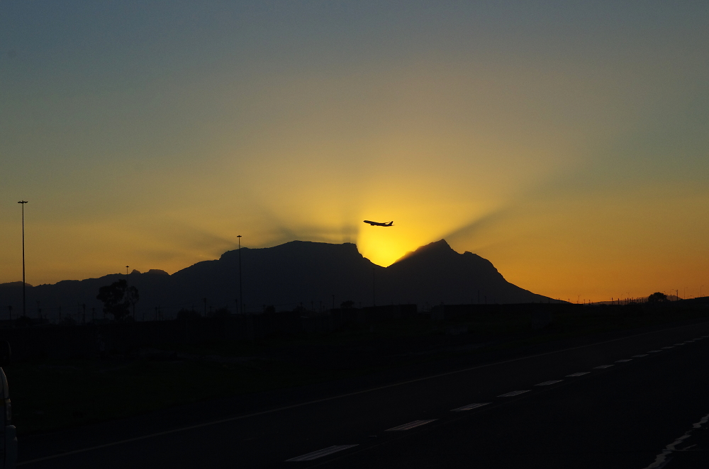 Sunset over Table Mountain Cape Town