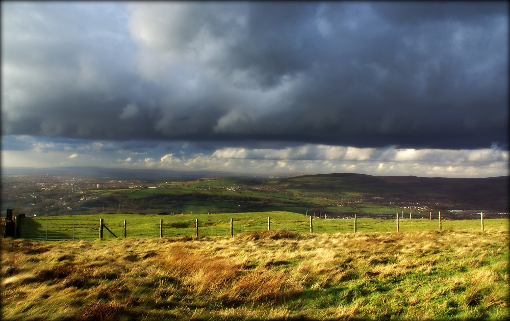 Storm clouds over The Nab
