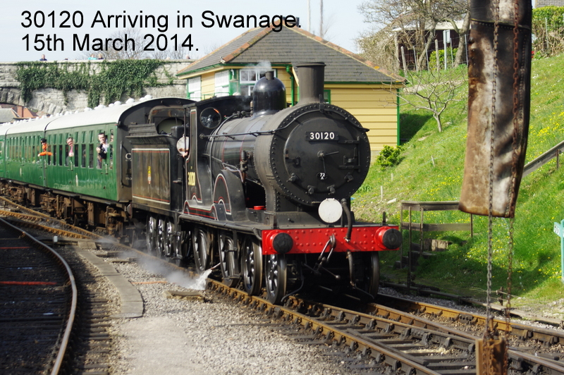 30120 Ariving into Swanage Station.