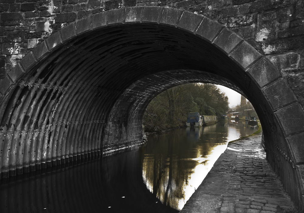 Barge and Bridge Rochdale Canal