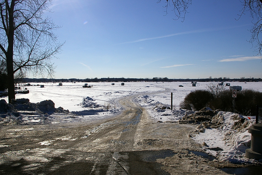 Ice Fishing on the Ottawa