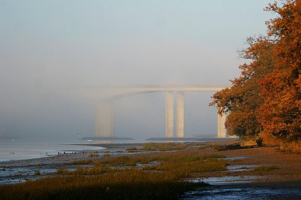 Misty bridge.