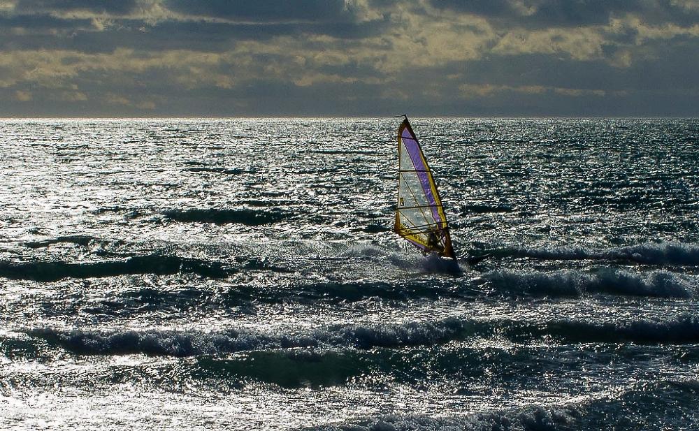 Sail-boarding... in January!