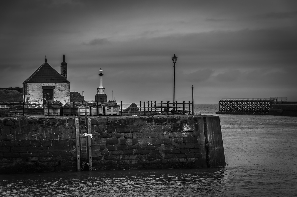 Maryport harbour entrance