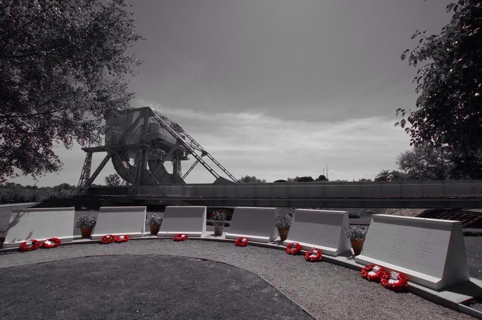 Glider memorials at Pegasus Bridge