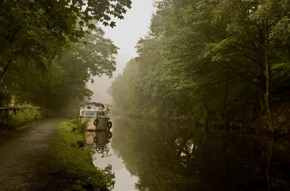 Misty Evening Rochdale Canal