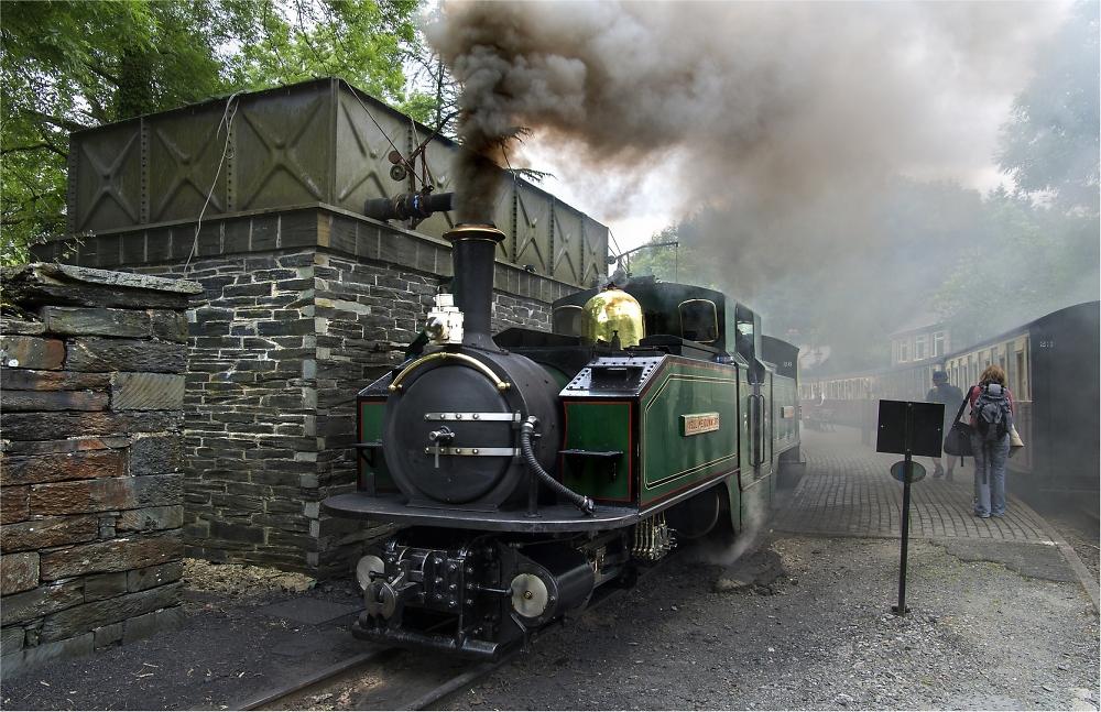 Narrow guage railway steam up