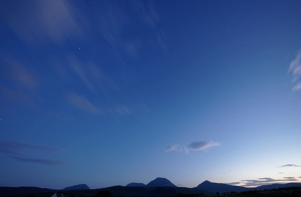 dawn over the Paps of Jura
