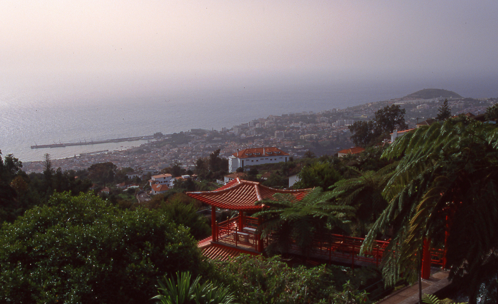 Funchal from Monte Palace Gardens