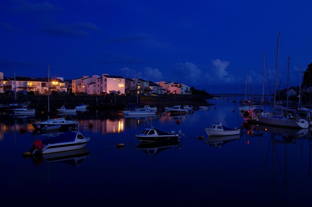 Porthmadog Harbour at Dusk