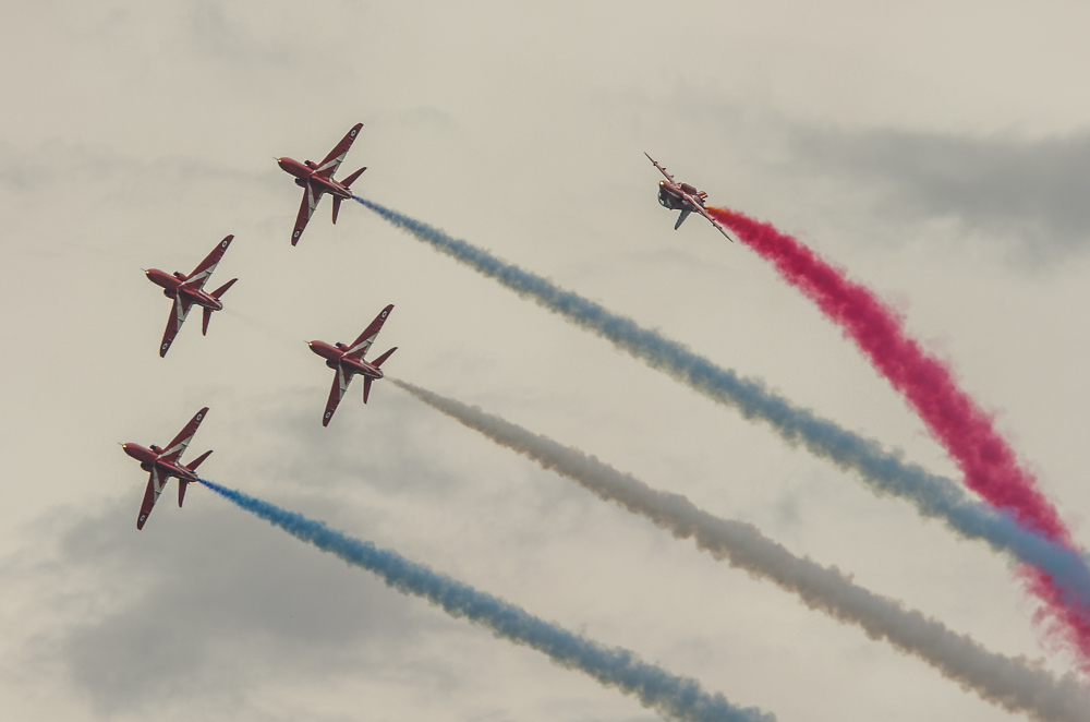 The Red Arrows - 'Twister' Formation