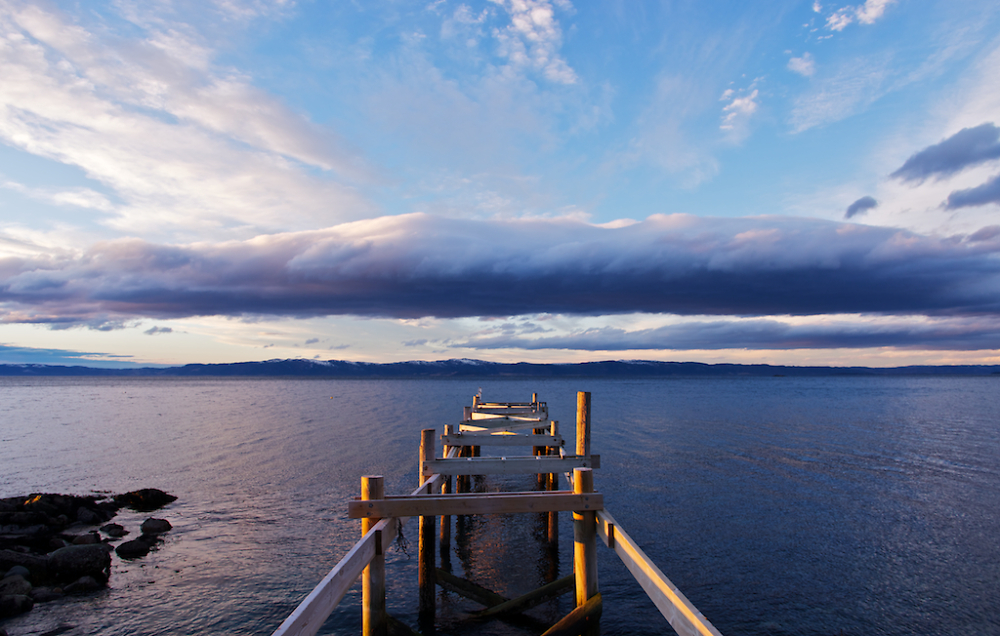 Jetty Fjord Clouds