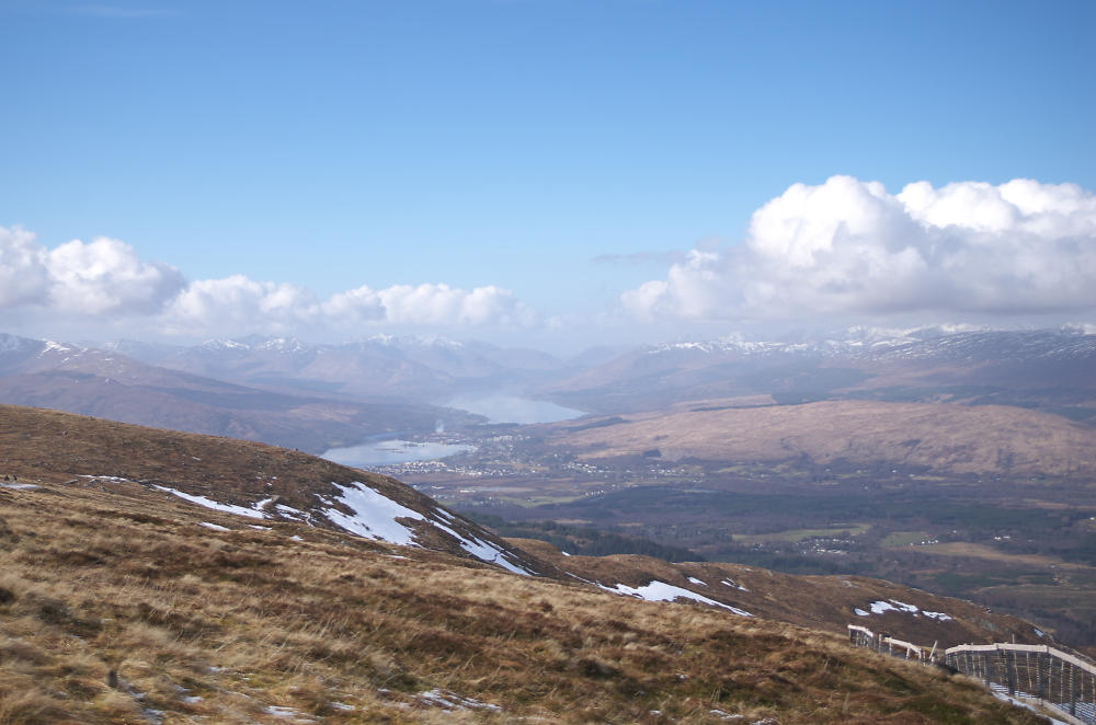 View across Fort William from Aonach Mor