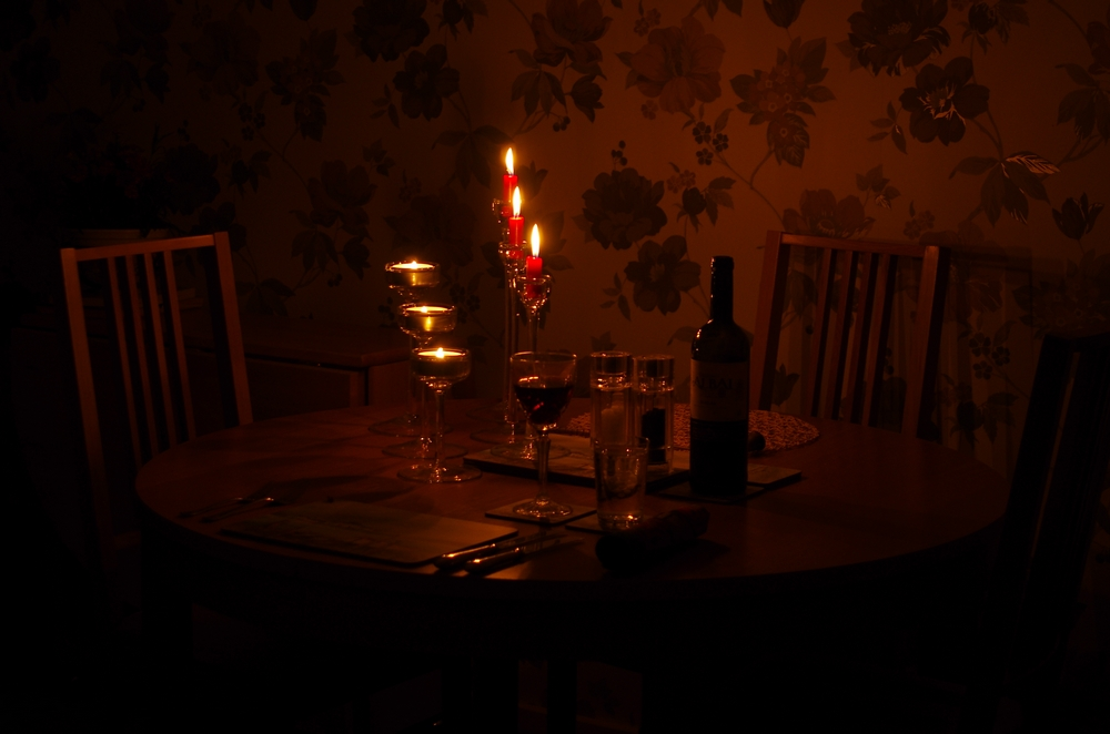 A table set for one