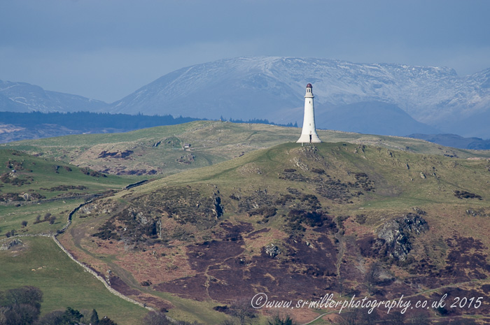 Hoad monument and Coniston Fells