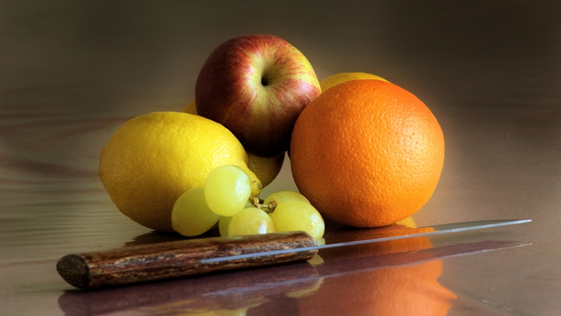 Fruit and Knife