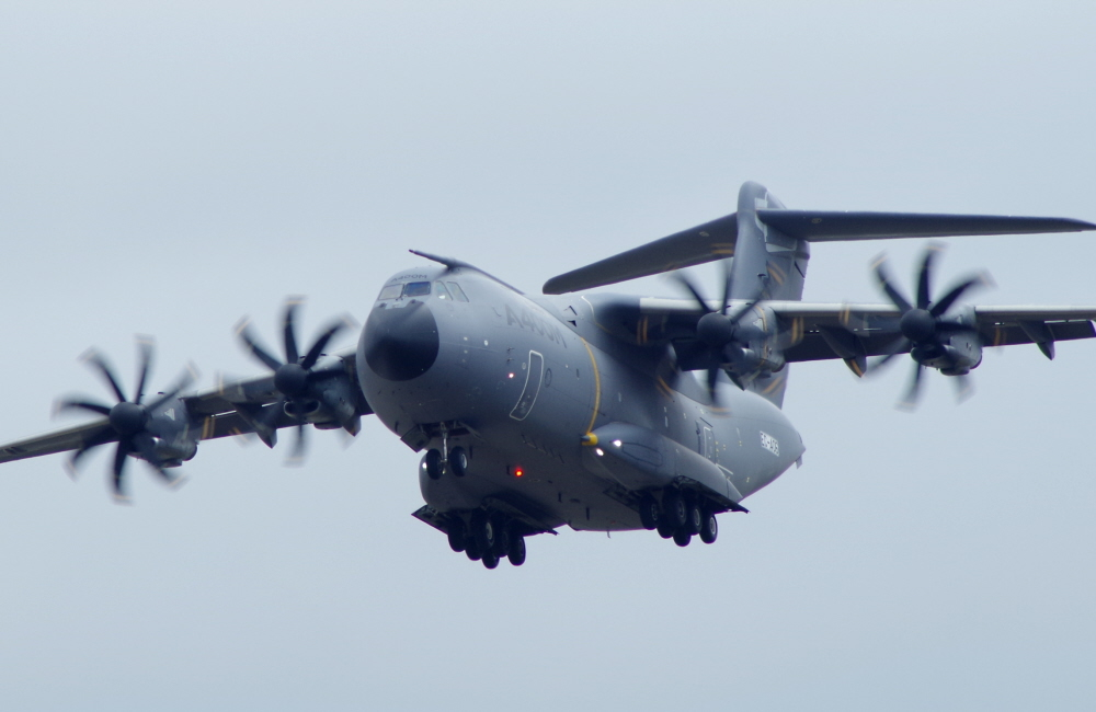 Airbus A400M flypast at Fairford