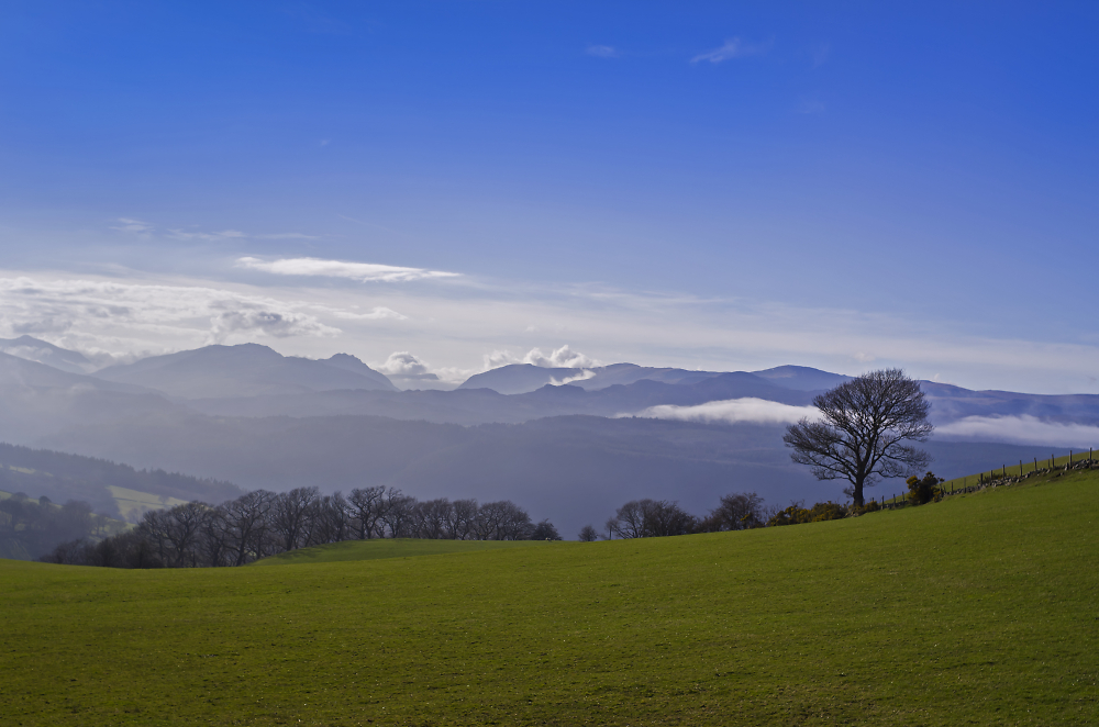 Snowdonia viewed from nearby Nebo