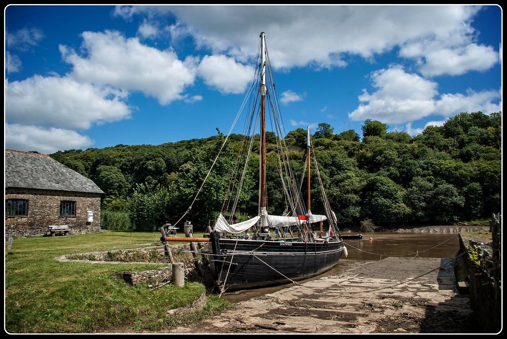 "The Sailing Barge ""Shamrock"" on the River Tamar"