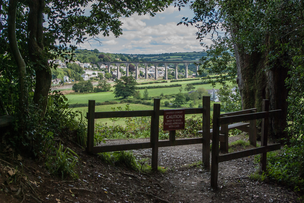 View of the Calstock Viaduct Across the Tamar Valley