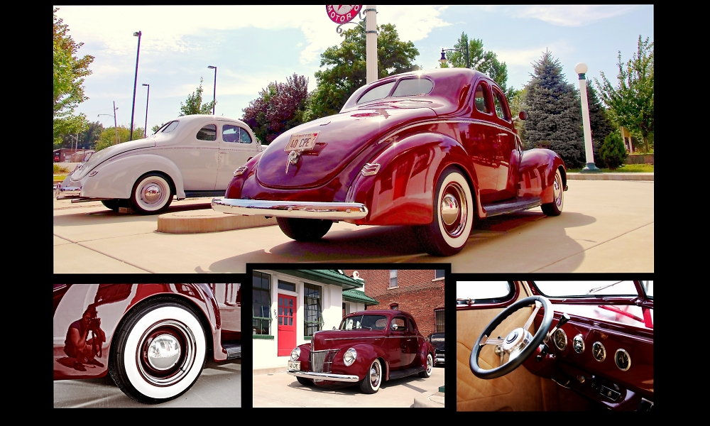 Collage:  Candy Apple Red Ford Deluxe