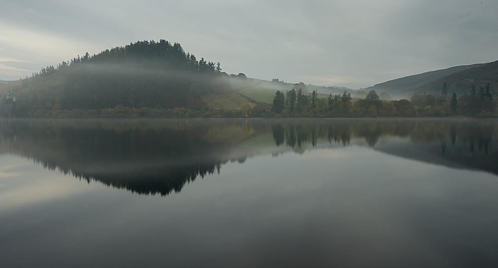 Misty morning at Lake Vrynwy