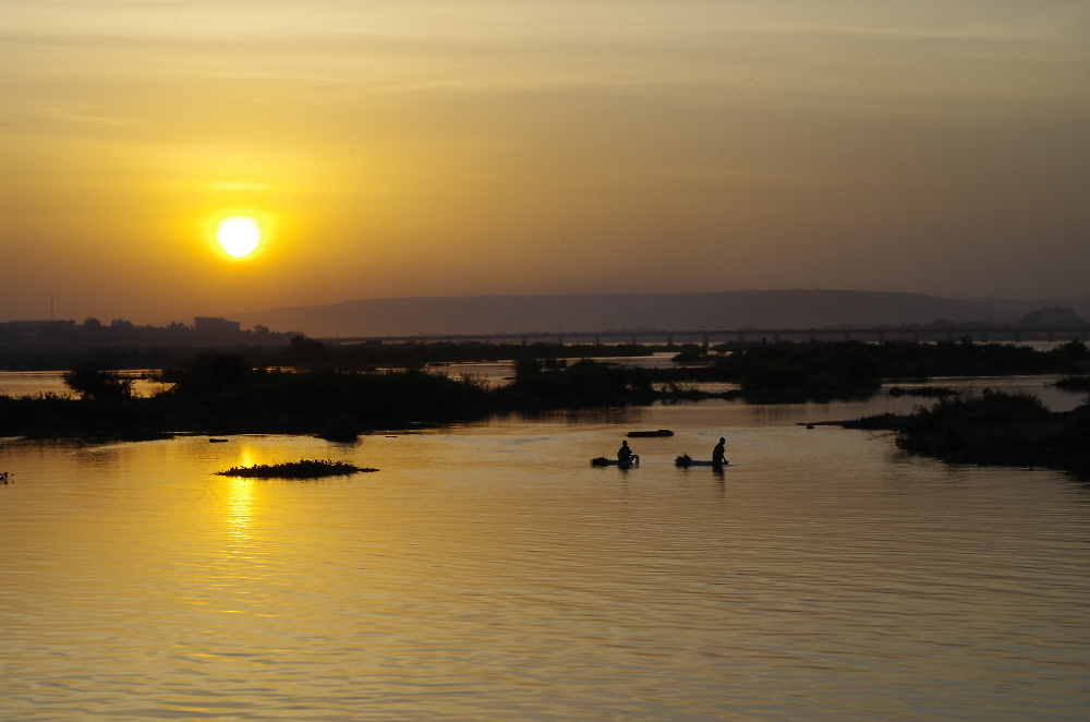 Crossing the River Niger in Bamako, Mali, West Africa