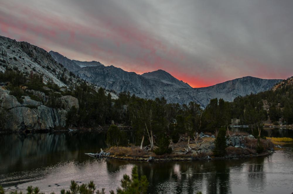 Long Lake on the Bishop Pass Trail