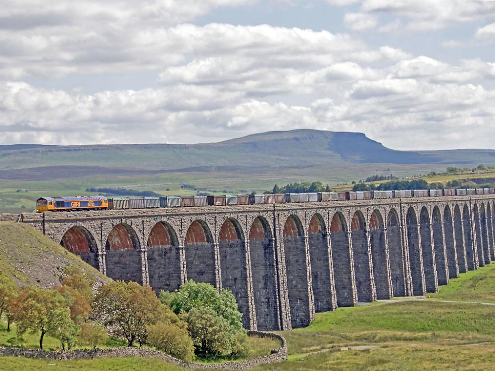 Crossing Ribblehead Viaduct