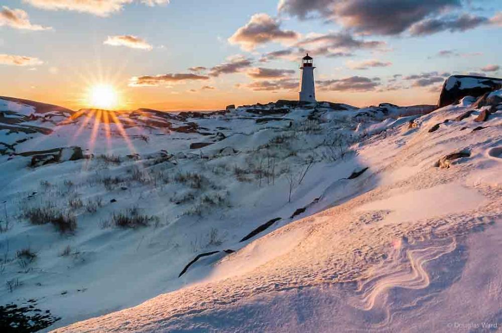 Peggys Light in winter