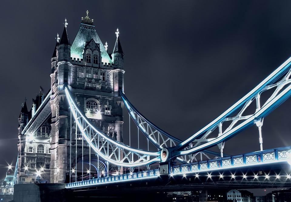 Tower Bridge in blue...