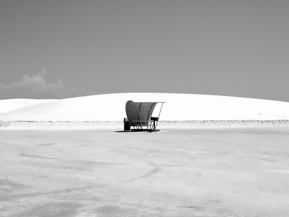 White Sands bus-stop for aliens heading for Roswell (NM)