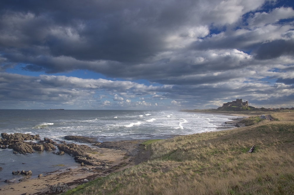 View of Bamburgh Castle, Northumberland
