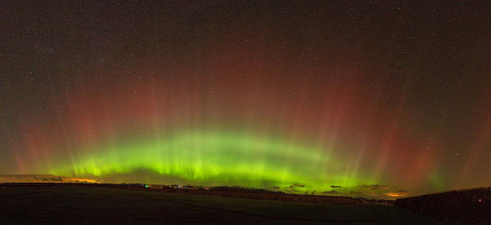 Aurora 2 from Kelso racecourse, Scottish Borders