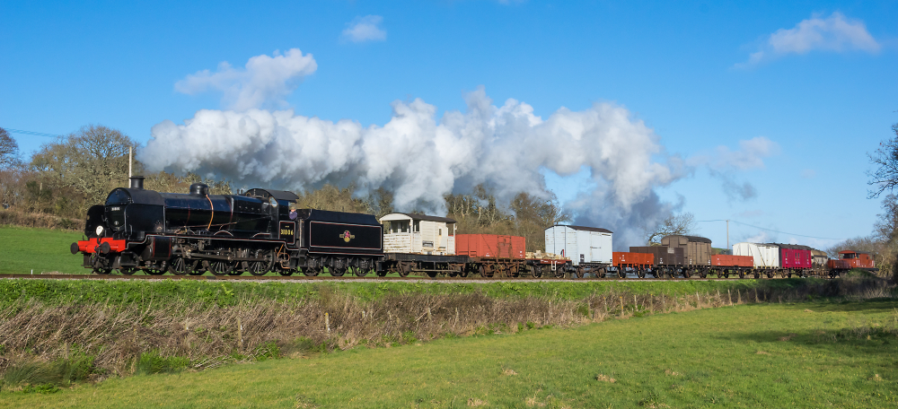 Freight train in the Purbeck Hills