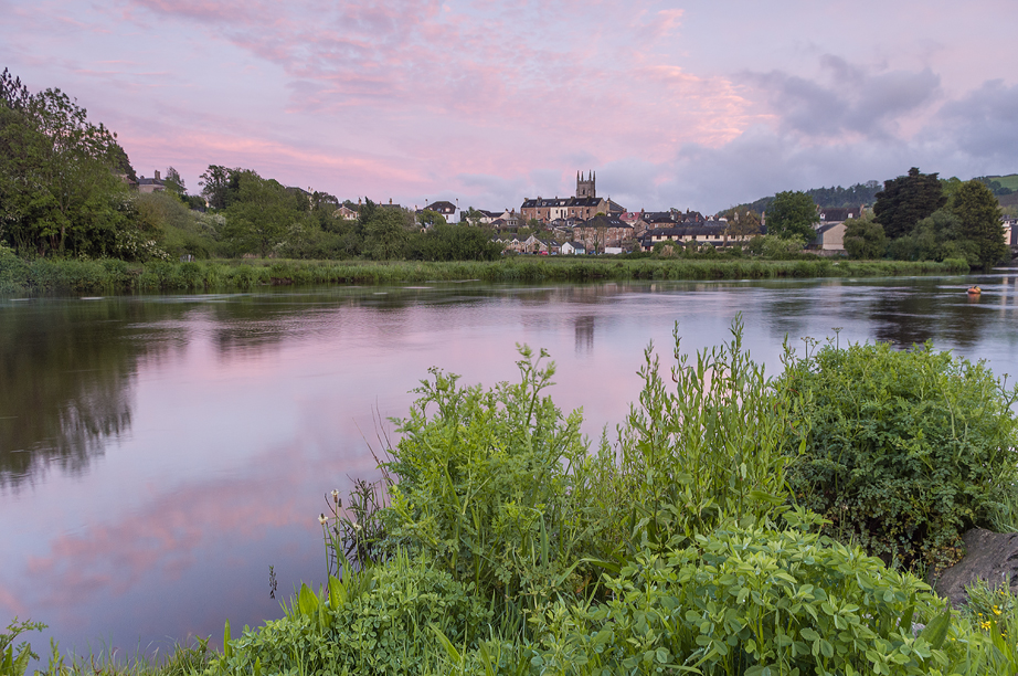 Afterglow with storm clearing at Totnes