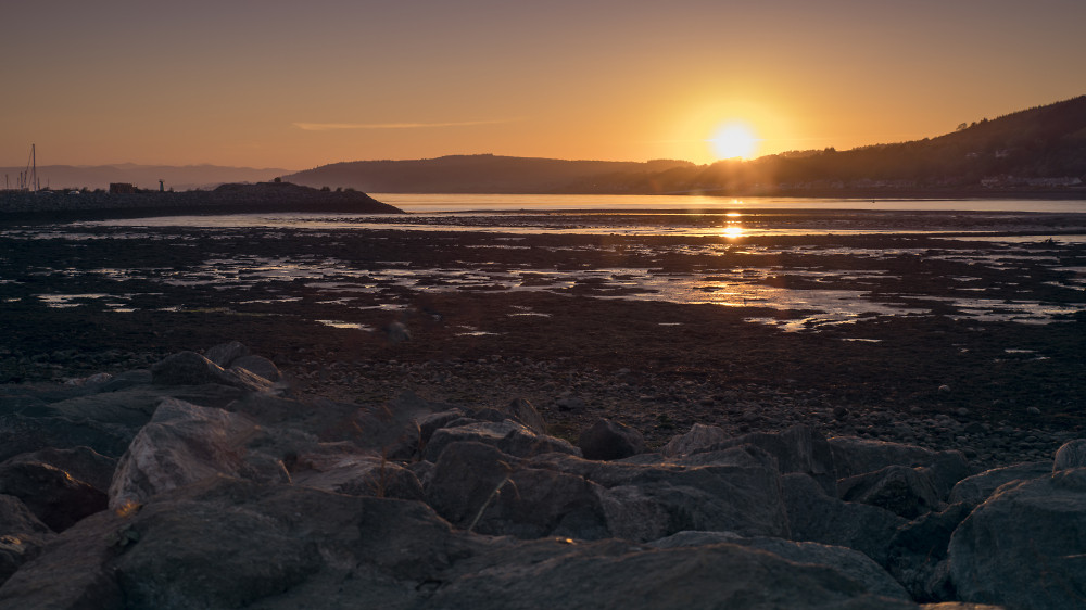 Pixel shift sunset overlooking the Black Isle from Inverness