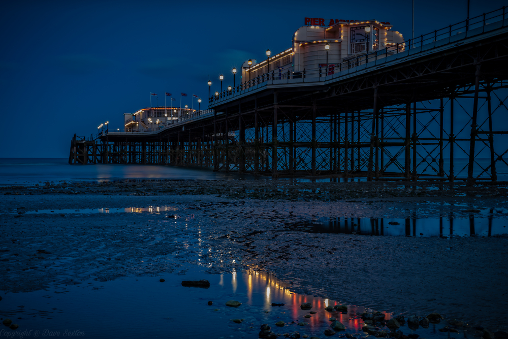 Blue Hour Pier Reflections