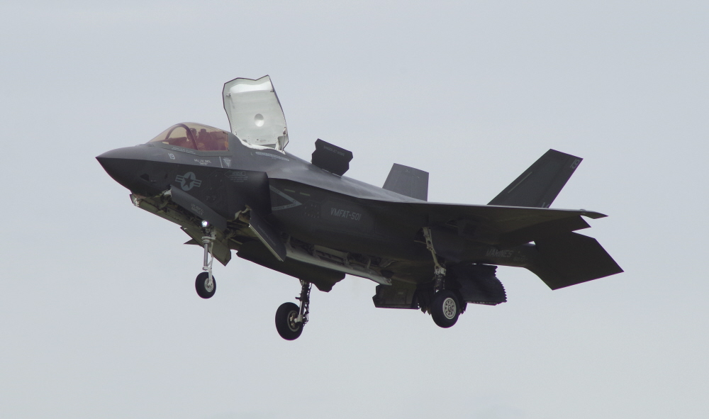 F35B in the Hover